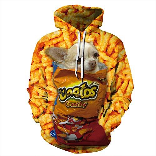 LUOYLYM 2019 Qiduo Snack Digitaldruck Damen Herbst Und Winter Sweatshirt Sport Und Freizeit Baseball Wear Langarm Shirt Pullover Qyxh219 L