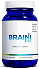 BrainiLex | Clinically Tested Brain Supplement | Memory, Focus, Learn, Perform | 90 Count