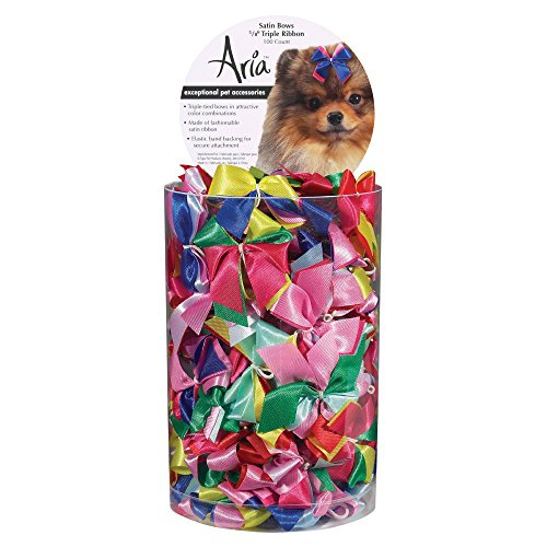 Aria Satin Dog Bows