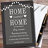 10 x Grey String Lights Personalized Housewarming Party Invitations