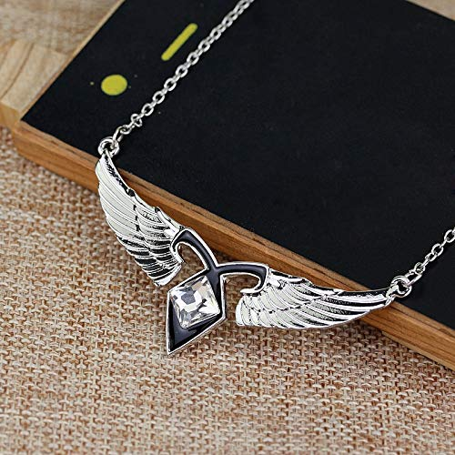 VAWAA Fashion Women Film Schmuck Mortal Instruments City of Bones Ashes Angel Wings Power Rune Pendant Choker