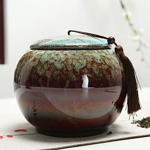 HUIJU Urne Keramik Für Die Einäscherung Von Haustier Und Mensch Asche Zwei Größen,Blue,L