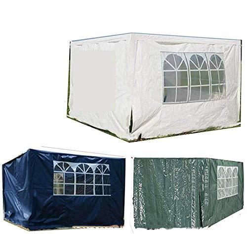 FlyingBanana001 2 carpa lateral de jardín de 3 x 2 m, sustituye a paneles laterales reemplazables, uno con ventanas, uno con cremallera, color blanco