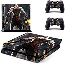 MightySticker® PS4 Designer Skin Game Console + 2 Controller Decal Vinyl Protective Covers Stickers f Sony PlayStation 4 GOW God of War 3 Omega Ascension Scarface Kratos Ghost Sparta Muscular Warrior