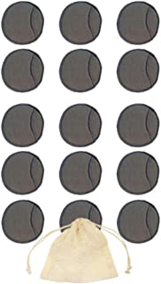 Lurrose Charcoal Bamboo Reusable Makeup Remover Pads Biodegradable Cotton Eco Friendly Reusable Cotton Pads Organic Bamboo Cotton Face Rounds Makeup Pads