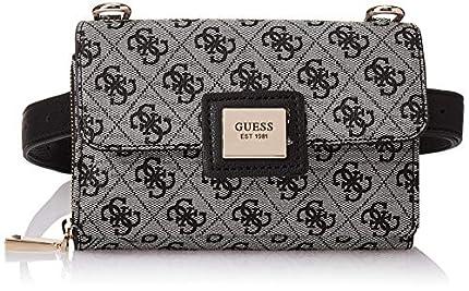 Guess Candace CNVRTBLE XBDY Belt Bag, bolso para Mujer, Negro, Talla única