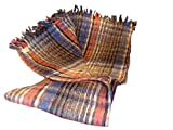 Sanyork (Tm) Wholesale Brushed Recycled Wool Warm Blanket Three Pack Mexico Throw Mexican Assorted004909