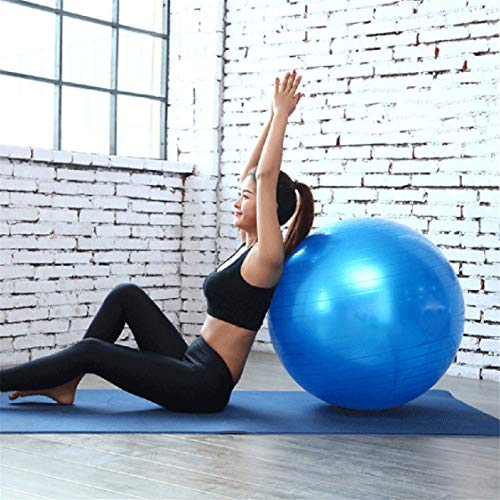 Idiytip Gymnastikball Anti-Burst Anti-Rutsch-Gymnastikball Yoga Ball Balance Ball für Fitness Pilates Yoga Gym,Blau