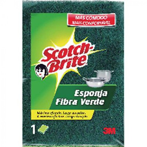 Scotch-Brite - Esponja Fibra Verde 82 x 117