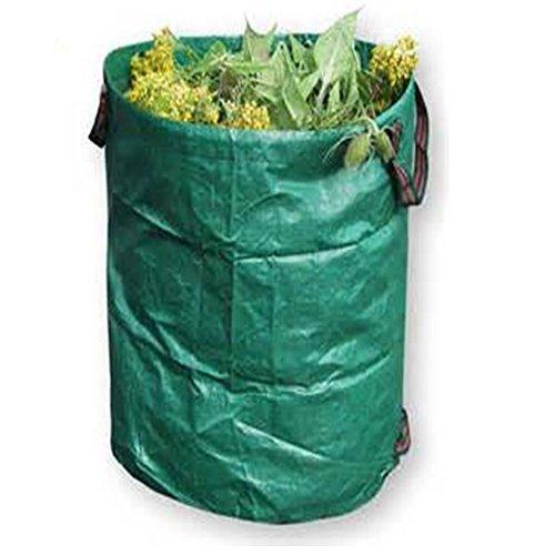 zyurong Sacs à déchets de jardin, 120 L, pliables et réutilisables, très résistants, pour pelouse, jardin