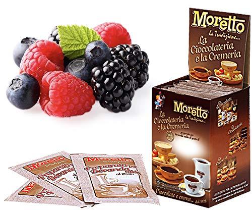 Cioccolata calda in tazza - MORETTO - gusto CIOCCOLATO e FRUTTI DI BOSCO - 1 scatola con 12 bustine