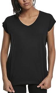 Urban Classics Dam dam rund V-hals utökad axel T-shirt