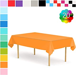 ETMURY Plastic Tablecloth 12 Pack Disposable Rectangle Table Covers 54 in. x 108 in. for 6 to 8 Foot Tables Indoor or Outdoor Parties Birthdays Weddings Christmas