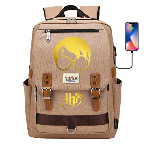 Lightweight and Large-Capacity Schoolbag is Suitable for Elementary and Middle School Youth Fashion Backpack #HP Khaki