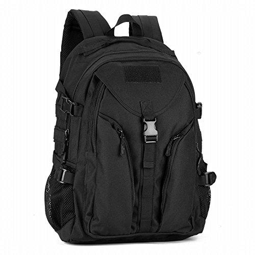 (フェニックス一輝) Phoenix Ikki 40L 流線型 選べる4色 迷彩 耐久性 耐水性優れ 男女兼用 ミリタリー リュックサック アウトドア バックパック カジュアル 鞄 ブラック