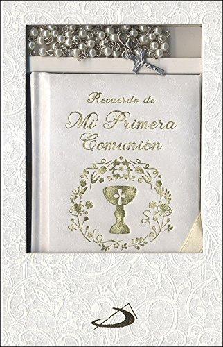 Estuche primera comunion. Modelo 2: Libro de oraciones y rosario