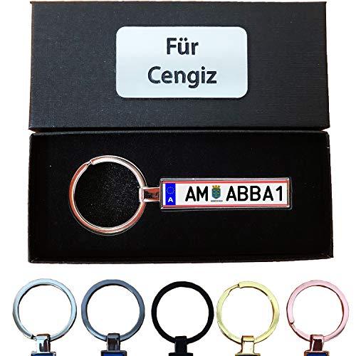 Bl4ckPrint B4P Schlüsselanhänger Kennzeichen Österreich at Nummernschild Auto KFZ Individuell als Geschenk Für Autoliebhaber Autofans Männer Mini mit Namen personalisiert