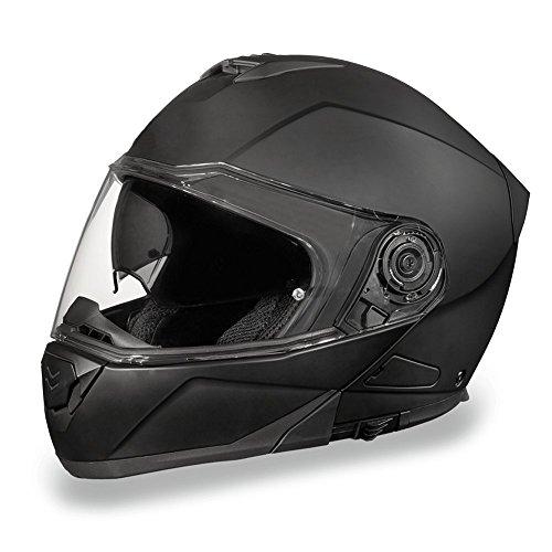 Daytona Helmets Motorcycle Modular Full Face Helmet Glide- Dull Black 100% DOT Approved