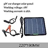 ZSPSHOP Panel De Energía Solar Panel Sistema Fotovoltaico 12v Coche Solar Coche De Carga,5W