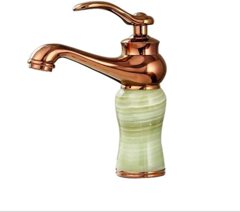 Bathroom Sink Basin Lever Mixer Tap Natural Sapphire Basin Faucet Platform Basin-Sitting Mixing Faucet