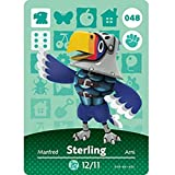 BestTom No.048 Sterling ACNH Animal Villager Card Fan Made.Third Party NFC Card Bank Card Size Water Resistant for Switch/Switch Lite/Wii U