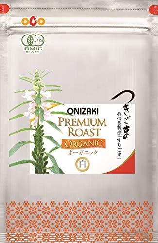 オニザキのつきごま白オーガニック425g( 85g 5袋/箱)有機栽培のごまを使用、国天然、無添加、おにぎり、ふりかけ、パスタや和え物に!山崎屋 昆布と鰹節職人