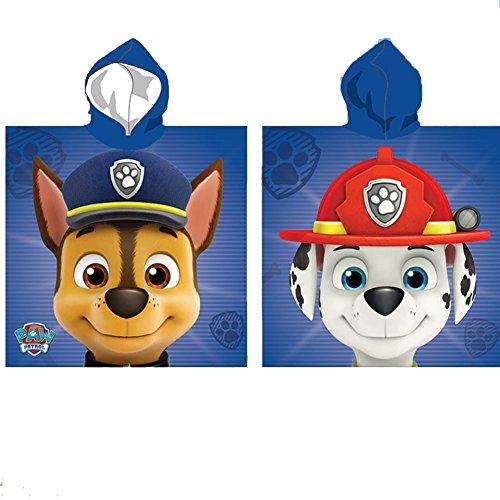 Poncho toalla Patrulla Canina Paw Patrol Chase Marshall