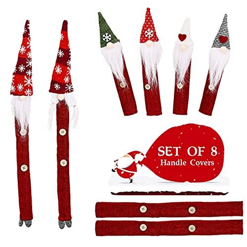 LOOU 8 unidades de decoración para el frigorífico, para Navidad, tirador de puerta de cocina, todas las cañas son adecuadas