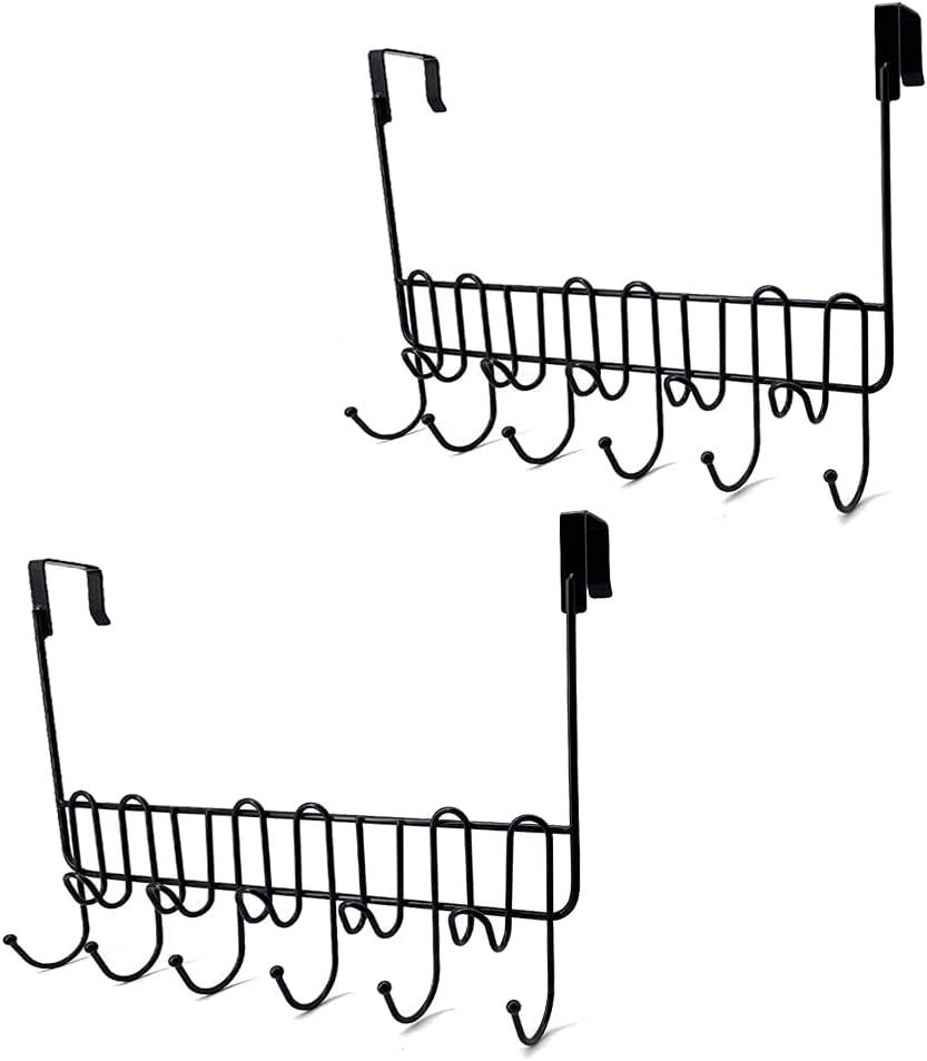 BUOOKCY Over The Portland Mall Door Hooks Hanger Today's only Pack R Towel 2