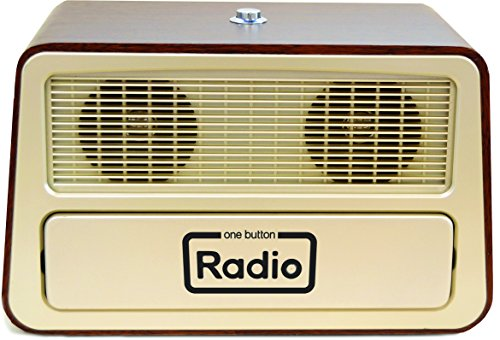 "Memory Loss One Button Radio / Large Analog Retro Style Dementia Radio / Size: 11.75"" w x 7.25"" h x 6.25"" d"