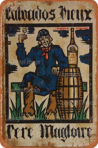 Calvados Vintage-Blechschild, Kunst, Eisen, rostiges Poster, Dekoration, Aluminiumschild für Hotel, Café, Schule, Büro, Garage