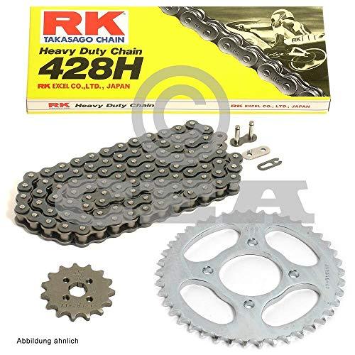 Kettensatz geeignet für Daelim VL 125 R FI Roadwin 07-11 Kette RK 428 H 130 offen 14/45