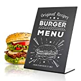 Mini Tabletop Chalkboard Sign 6x8.2' - Menu Chalkboard Stand for Wedding Table - Tabletop Chalkboard Signs for Tables with Stand - Event Place Cards - Table Chalkboard Signs with Stand Up Chalkboard
