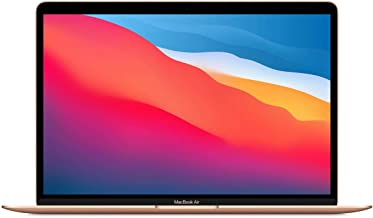"""Apple MacBook Air 13.3"""" with Retina Display, M1 Chip with 8-Core CPU and 7-Core GPU, 16GB Memory, 512GB SSD, Gold, Late 2020"""