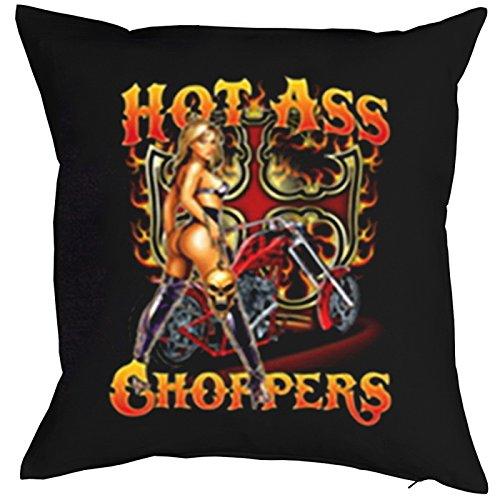 Goodman Design ® USA Motiv Kissen incl. Füllung, Dekokissen, Schlafkissen, Couchkissen - Hot Ass Choppers