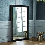 BrandtWorks, LLC BM002T Oversized Wall Mirror, 32' X 71', Matte Black,32' X 71'
