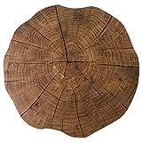 Fransande Salvamanteles individuales de madera de grano redondo para el hogar de la mesa de la almohadilla de aislamiento de la