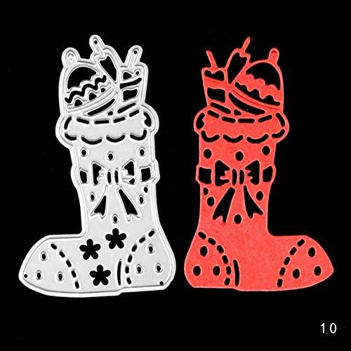 CTOBB Frohe Kerstmis-serie, metalen stansvormen, sjablonen voor doe-het-zelf scrapbooking/fotoalbum, decoratief reliëf, papierkaarten Snij-ijzer-010