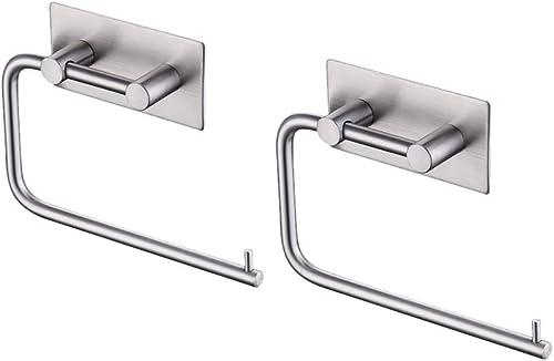 KES Toilet Paper Holder Self Adhesive SUS 304 Stainless Steel Storage Bathroom Kitchen Paper Towel Stick Rotating Rod...
