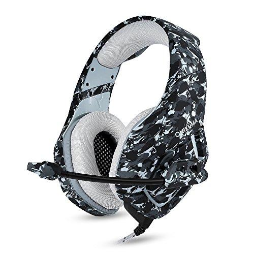 Cuffie Gaming per PS4 Xbox One, Auricolare Gioco Noise Cancelling Controllo del Volume Stereo Headset per Nintendo Switch, PC Portatile, Tablet, Camuffamento