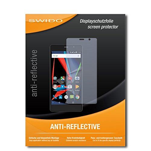 SWIDO Schutzfolie für Archos 55 Diamond Selfie [2 Stück] Anti-Reflex MATT Entspiegelnd, Hoher Festigkeitgrad, Schutz vor Kratzer/Bildschirmschutz, Bildschirmschutzfolie, Panzerglas-Folie