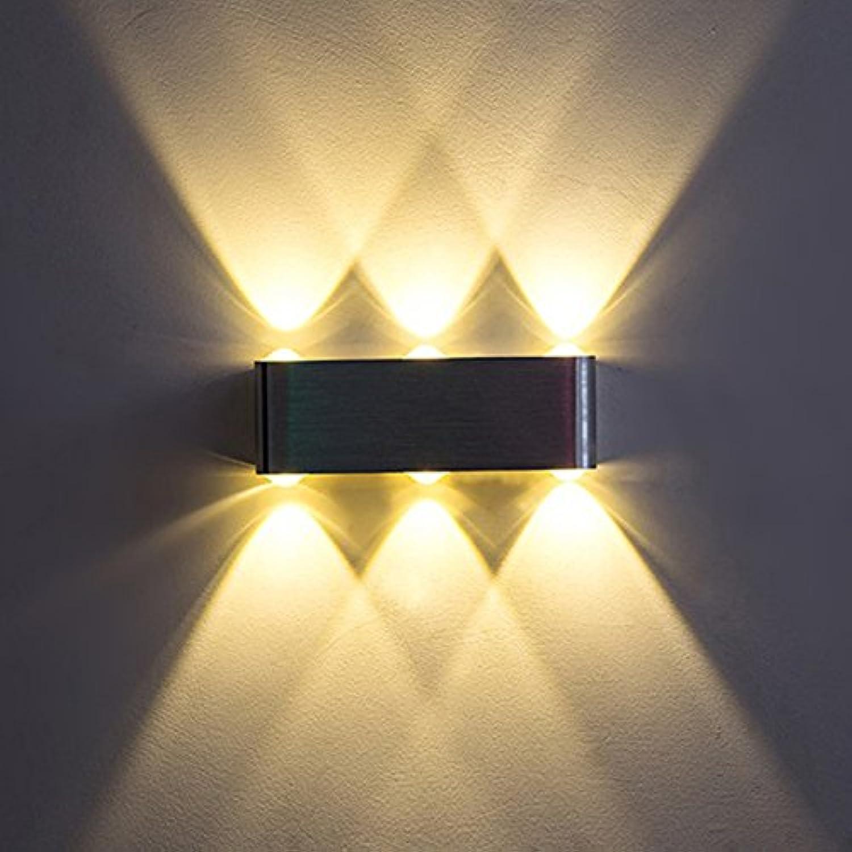 StiefelU LED Wandleuchte nach oben und unten Wandleuchten Led-Wandleuchte outdoor wasserdicht Rostschutz 6W Wand waschen Wand der Innenhof Flur 190  60  30 MM, warmes Licht