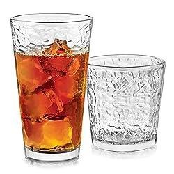commercial Libbey Yucatan Glasses Set Glasses and Glasses, 16 Pieces rock tumbler ratings