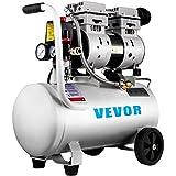 VEVR Compresor de Aire Ultra Silencioso 25 L Ultra Quiet Air Compressor 750 W Compresor de Aire Silencioso de Tanque Compresor Ultra Silencioso para Reparaciones en el Hogar, Con Accesorios Completos