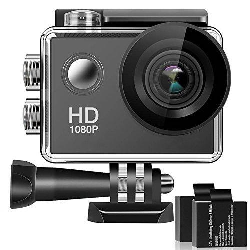 Caméra Grand Angle 170, écran à cristaux liquides 12mp entièrement Haute définition de 2 pouces, caméra de mouvement étanche à l