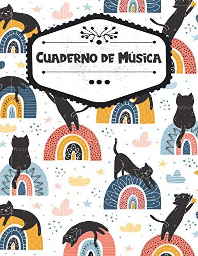 Cuaderno de Música: Cuaderno de pentagramas, Libro de partituras Con pentagramas para composición musical, Regalo para amantes de la música y amantes ... páginas, Formato A4 grande (21,59 x 27,94 cm)