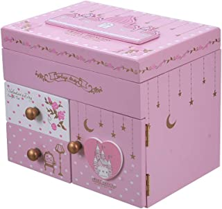 ColorSpring Jewelry Music Box Pink Castle