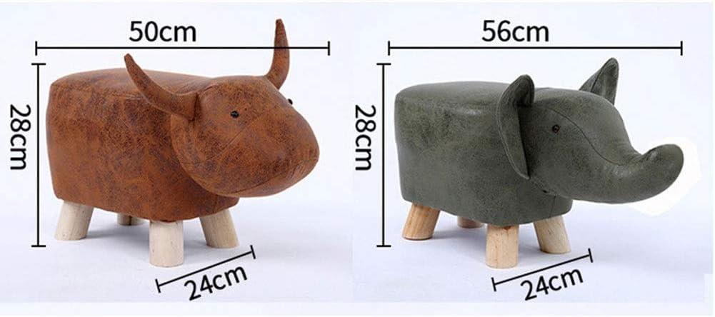 YUMUO Tabourets de Forme Animale Ottomans Coussin rembourré Repose-Pieds Pouf Tabouret Repose-siège Chaise de canapé (Couleur: Éléphant Rouge) 8