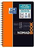 Oxford 400100861Nomadbook–Cuaderno espiral estudiantes 17,6x 25cm camisa integrada 160páginas cuadriculado 5x 5Polypro colores aleatorios