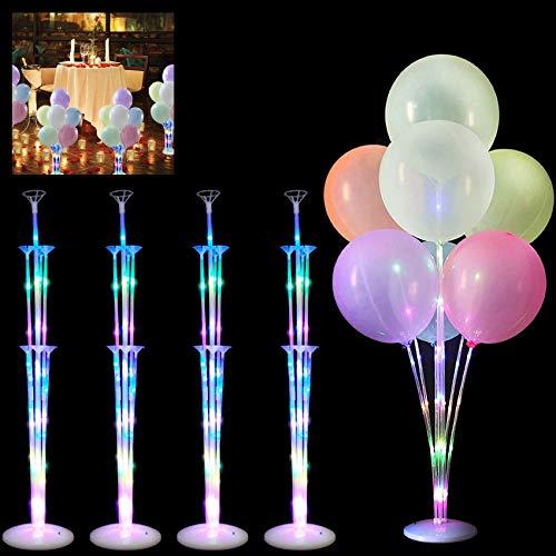 4 Stück LuftballonsStänder, Transparenter Balloon Stand,Ballon Stick Halter,Luftballons Ständer Halter,Ballon StickHalter,Balloon Stand kit,Luftballons Halter Zubehör